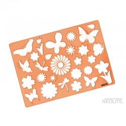 Plantillas de Flores y Mariposas Línea Kids Neolite