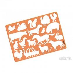 Plantillas Animales de Granja Línea Kids Neolite