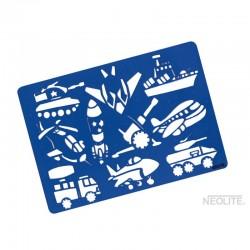 Plantilla Medios de Transporte Línea Kids Neolite