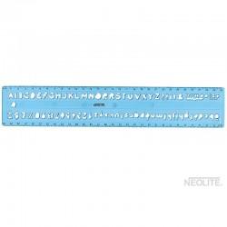 Plantilla / Normógrafo Escolar de 30 cms.
