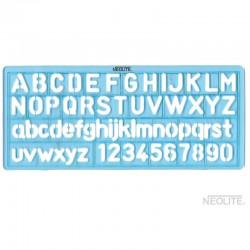 Plantilla de Letra y Números Chica de 10 mm Neolite