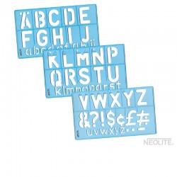 Set de Letras para Armar Plástico Azul