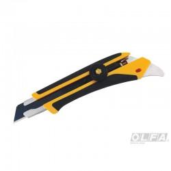 Cuchillo Industrial con Incrustación Antideslizante con Punta Multiuso y Seguro Manual