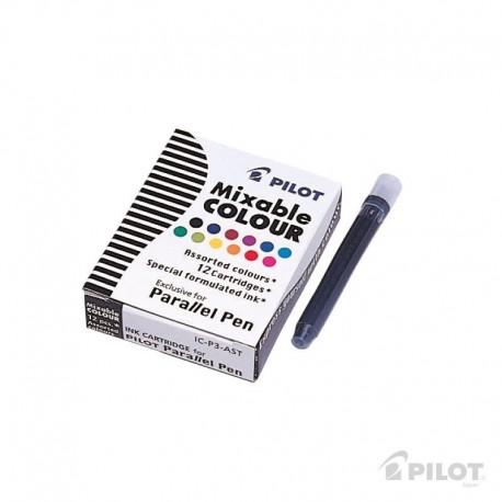 Cartucho 12 unidades Multicolor Lapicera Parallel