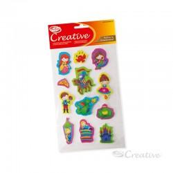 Sticker Goma Eva Princesa