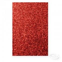 Goma Eva Glitter Rojo 10 unidades