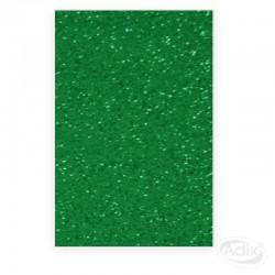 Goma Eva Glitter Verde 10 unidades