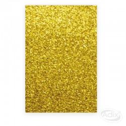 Goma Eva Glitter Dorado 10 unidades