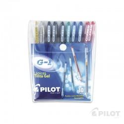 Lápiz Gel G-1 0.7 Set 10u PILOT