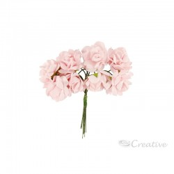 Flores de Papel Rosado