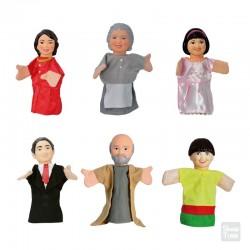 Títeres Familia Asiática