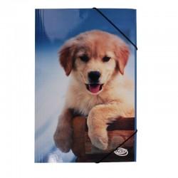 Carpeta Oficio Cartón c/Elástico Perro