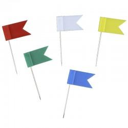Push Pin Forma Bandera 100u