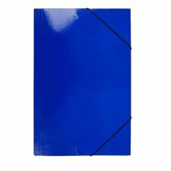 Carpeta Oficio Cartón c/Elástico Azul