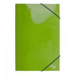 Carpeta Oficio Cartón c/Elástico Verde