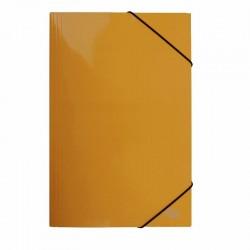 Carpeta Oficio Cartón c/Elástico Naranjo