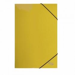 Carpeta Oficio Cartón c/Elástico Amarillo