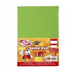 Goma Eva Pliego 40x60cm 10u Verde