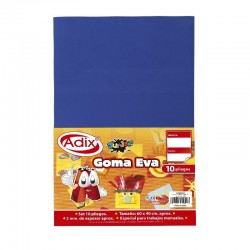 Goma Eva Pliego 40x60cm 10u Azul