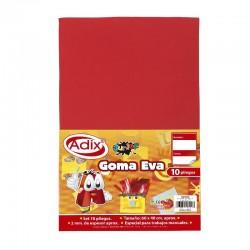 Goma Eva Pliego 40x60cm 10u Rojo