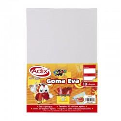 Goma Eva Pliego 40x60cm 10u Blanco
