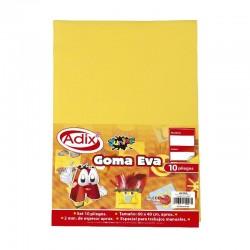 Goma Eva Pliego 40x60cm 10u Amarillo