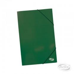 Carpeta Oficio Cartón c/Elástico Verde Oscuro