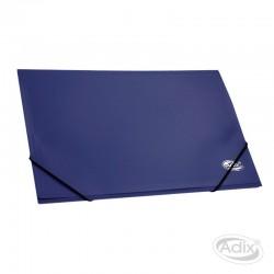 Carpeta Cartera con Elástico Azul