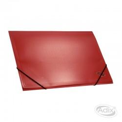 Carpeta Cartera con Elástico Rojo