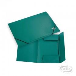 Carpeta Cartera con Elástico Verde