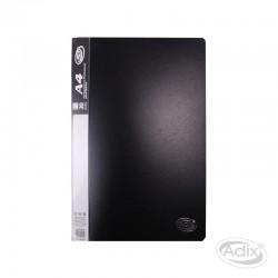 Carpeta A4 20 Fundas Negro