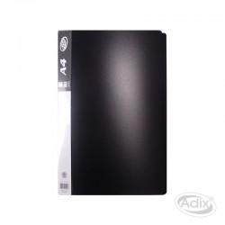 Carpeta A4 80 Fundas c/Estuche Negro