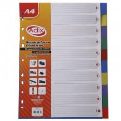 Separador Plástico A4 10u