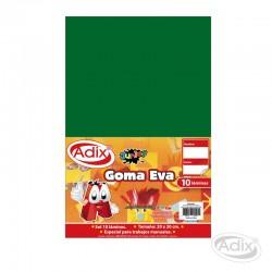 Goma Eva 20x30 cm 10u Verde Oscuro