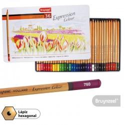 Lápices Expression 36 Colores Caja Metálica
