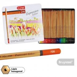 Lápices Expression 24 Colores Caja Metálica