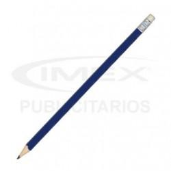 Lápiz Grafito Publicitario Cuerpo Azul con Goma