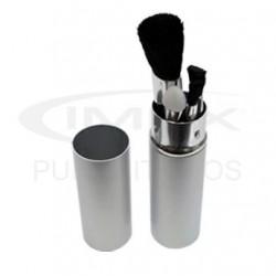 Set de Mini Brochas para maquillar en estuche metálico