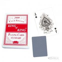 Set 1 Mazos de 54 Cartas Plásticas Tamaño. Póker Color Azul