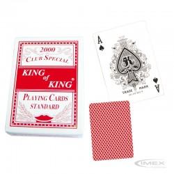 Set 1 Mazos de 54 Cartas Plásticas Tamaño. Póker Color Rojo