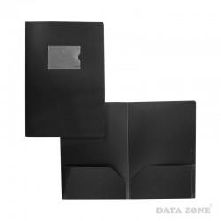 Carpeta Seminario A4 2 Bolsillos Tarjetero Externo Negro