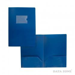 Carpeta Seminario A4 2 Bolsillos Tarjetero Externo Azul