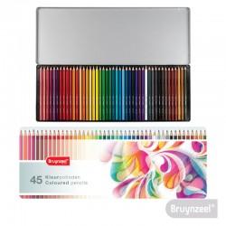 Lápices Hexagonales 45 Colores en Caja Metálica Colorful