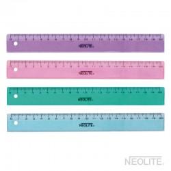 Regla Plástica Multicolor 20cm.