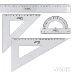 Set Geometría Transparente 30 cm. 4 Piezas