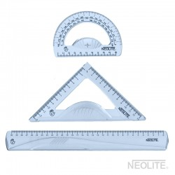 Set Geometría Zurdo 30cm 3pzs