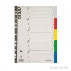 Separadores Plásticos Archivables A4 5 Unid. Colores
