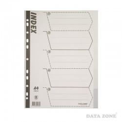 Separadores Plásticos Archivables A4 5 Unid. Blanco