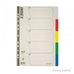Separadores Plásticos Archivables Oficio 5 Unid. Colores