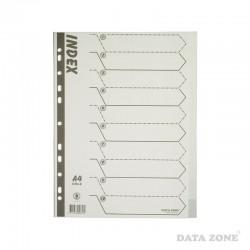 Separadores Plásticos Archivables A4 10 Unid. Blanco